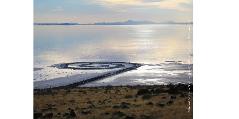 Oeuvre de Smithson, Spiral Jetty, 2004