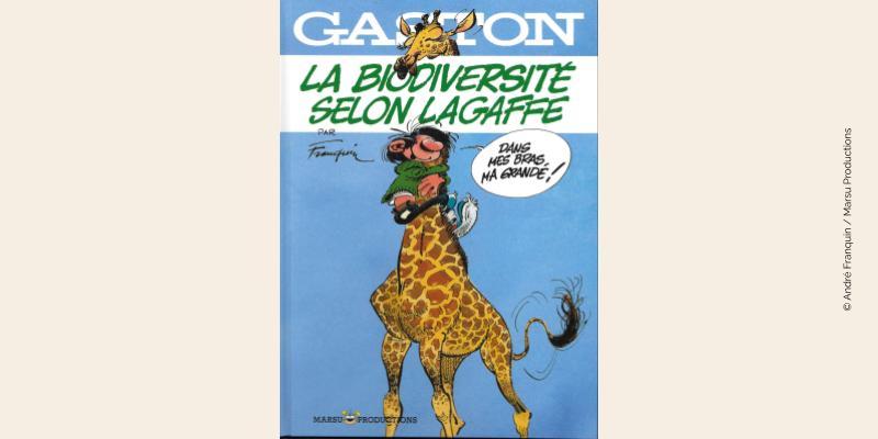 Couverture BD La biodiversité selon Lagaffe