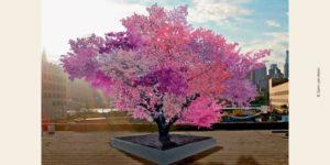Photo de l'arbre des 40 fruits, œuvre de Sam van Aken
