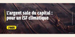 Visuel de la campagne ISF climatique de Greenpeace