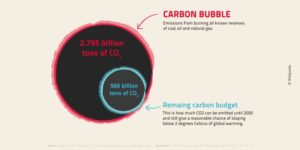 Visuel illustrant la bulle du carbone
