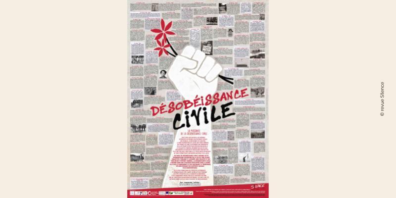 Affiche de la revue S!lence sur la désobéissance civile